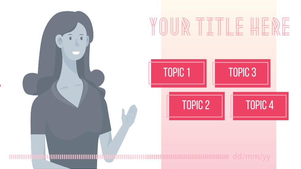 粉色简约几何可爱少女风通用PPT动画PPT商务模板