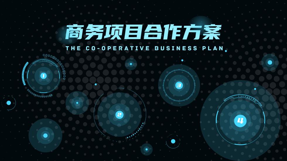 商务项目合作方案动画PPT 模板免费