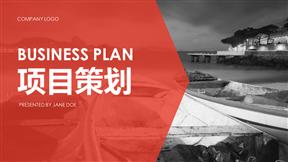 简约红色项目策划商业项目创业计划书通用多图动画PPT模板