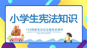 小学生宪法知识班会模板精品动画PPT模板