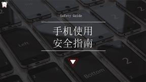 手机使用安全指南如何设计动画PPT模板