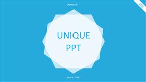 小清新色彩超简洁模板超好看动画PPT模板