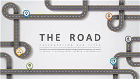 创意公路主题设计模板动态动画PPT模板
