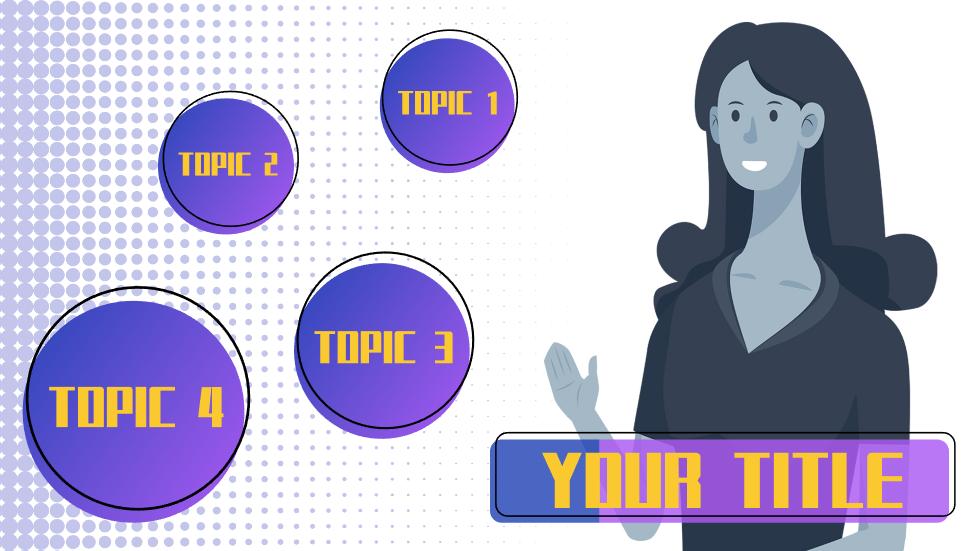 紫色渐变圆形几何简约风通用PPT最新动画PPT模板