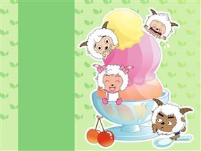 卡通喜羊羊与灰太狼幼儿小学教育教学课件动画PPT简易模板