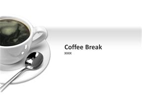 咖啡厅咖啡馆介绍推广幻灯片模板免费