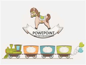 木马卡通幼儿小学教育教学课件动画PPT模板免费