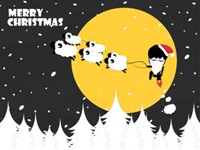 卡通圣诞节节日介绍活动策划动画PPT模板