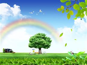 环境保护生态建设资源开发免费高端动画PPT模板