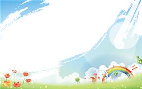 蓝天彩虹儿童成长教育教学课件动画PPT最新模板