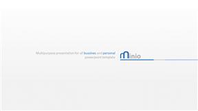 简约蓝色公司宣传公司介绍商业计划PPT模板
