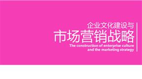 粉色市场营销战略精致的动画PPT模板