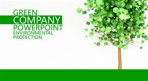 环境保护工作汇报动画PPT模板设计